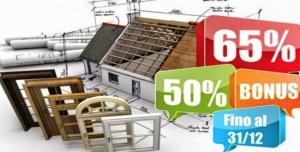 """detrazione fiscale 50% sugli interventi """"elettrici"""" e 65% sugli interventi """"termici"""""""