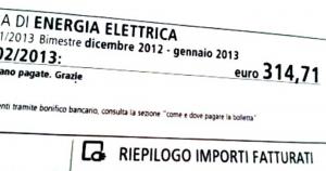 L'aumento della bolletta di luglio sarà di 70 euro. Non sono consumi. E' il canone RAI !!!