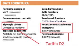 tariffa d2