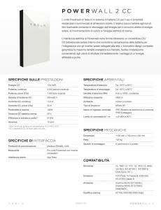 scheda tecnica tesla powerwall2